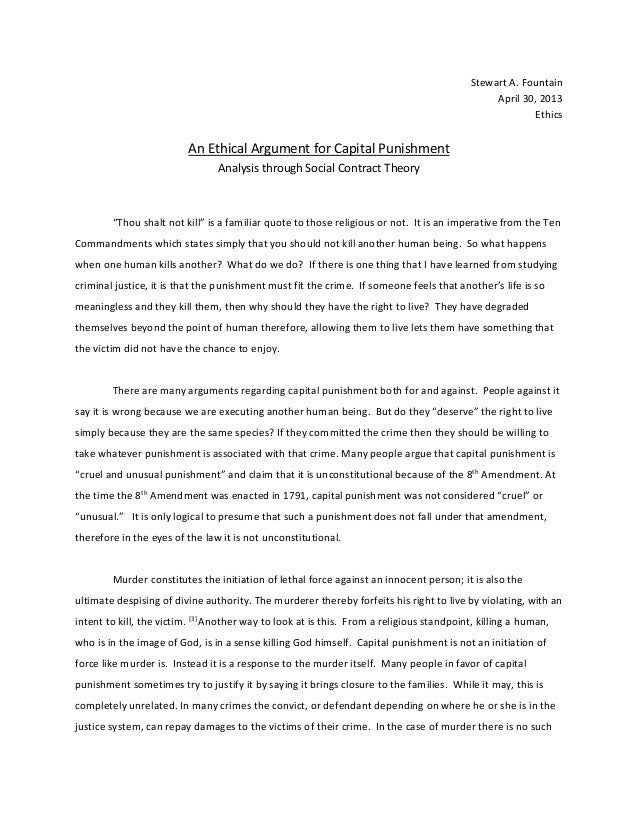 Essay about capital punishment death penalty