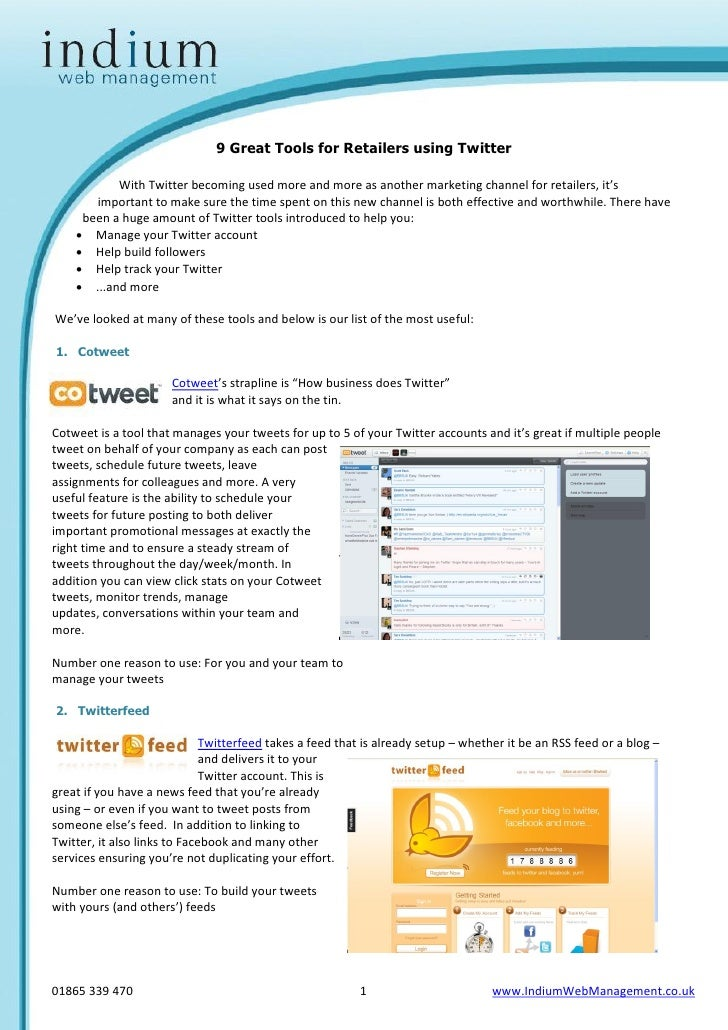 9 Great Tools for Twitter