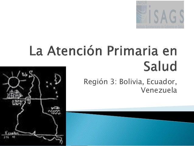 Región 3: Bolivia, Ecuador, Venezuela