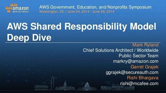 AWS Shared Responsibility Model - AWS Symposium 2014 - Washington D.C.