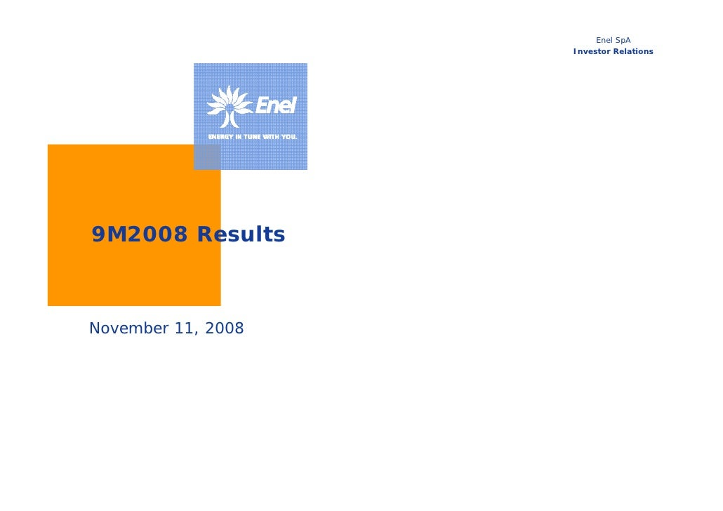 9M 2008 Results