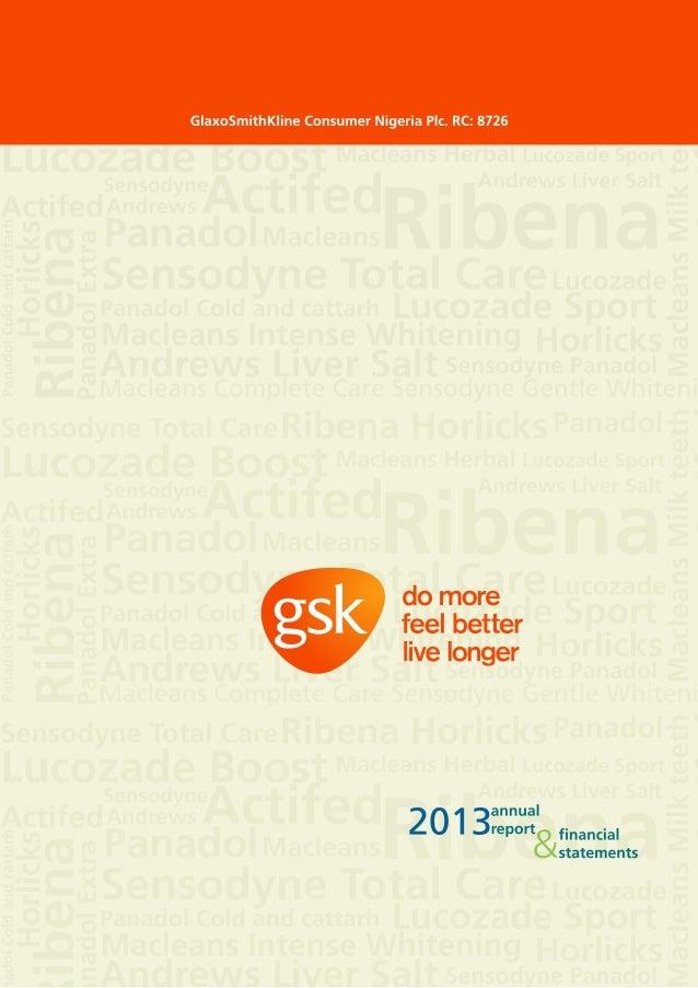 Gsk nigeria annual report 2013