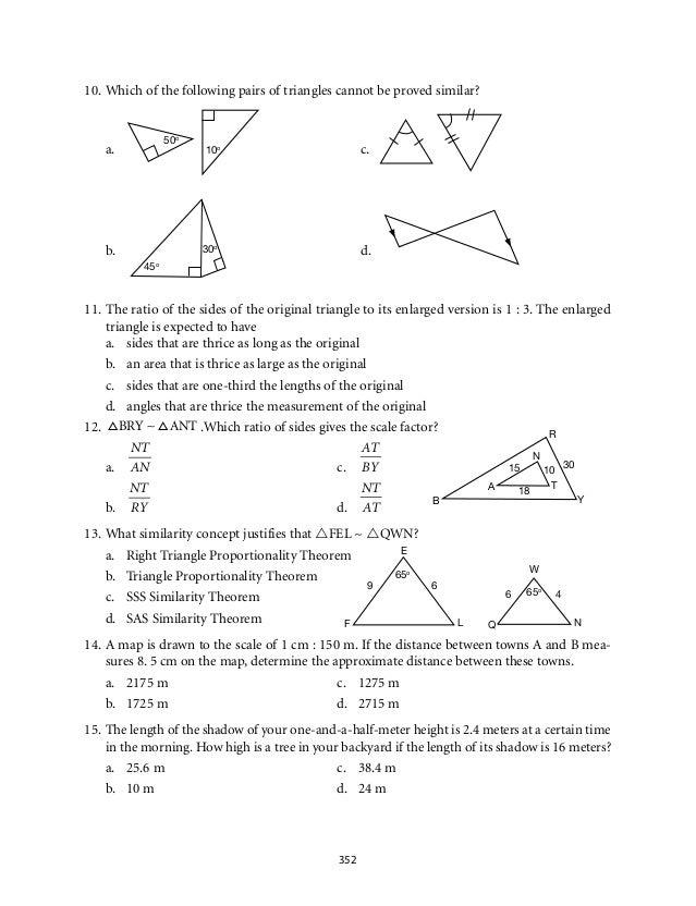 Similar Triangles Worksheet 8Th Grade Worksheets for all ...