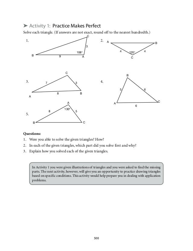 Problem Solving With Right Triangles Worksheet Essay Visit Zoo Park