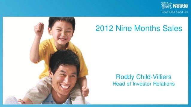 2012 9 month sales presentation