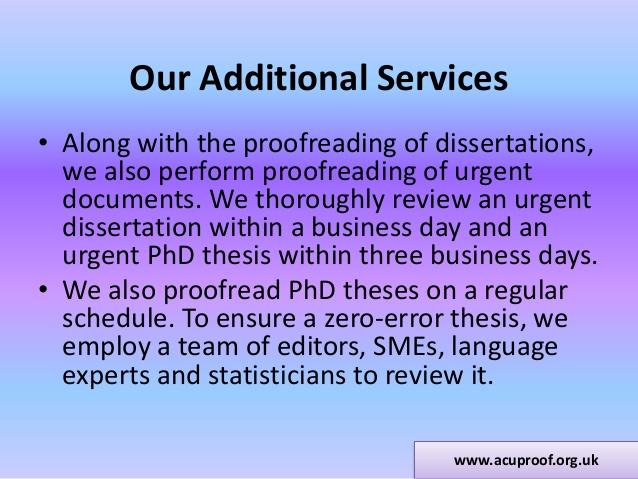 Dissertation Proofreading & Editing, Proof-Reading-Service com