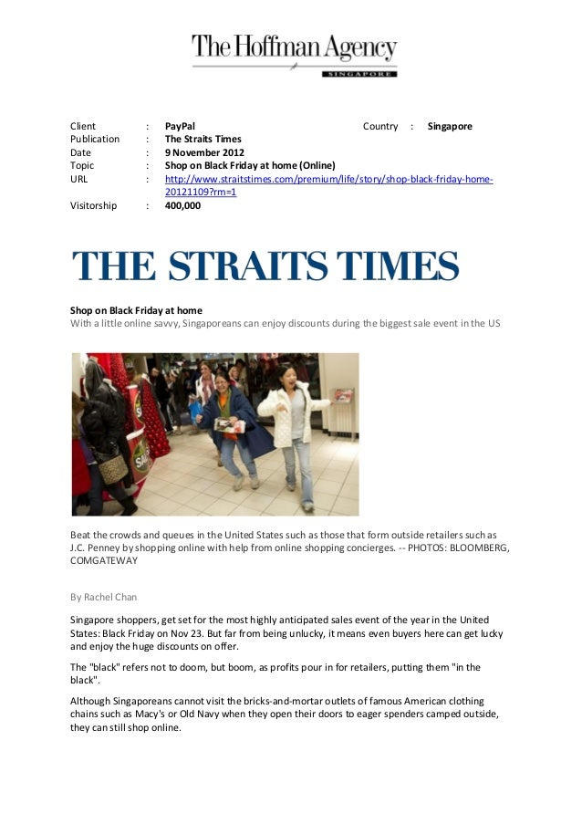Client           :    PayPal                                    Country : SingaporePublication      :    The Straits Times...