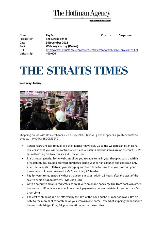 Client           :   PayPal                                    Country : SingaporePublication      :   The Straits TimesDa...