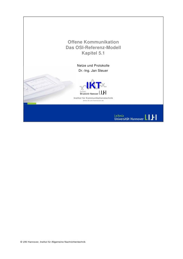 Offene Kommunikation                                         Das OSI-Referenz-Modell                                      ...