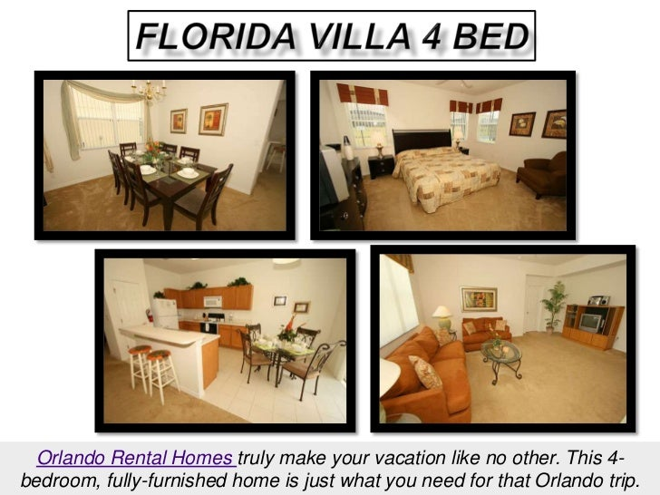 Florida Villa 4 Bed<br />Orlando Rental Homes truly make your vacation like no other. This 4-bedroom, fully-furnished home...