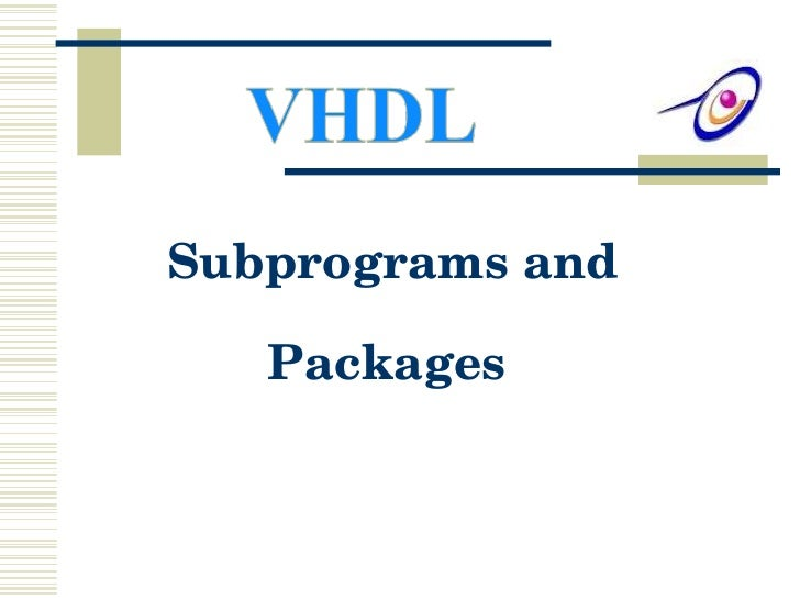 Subprograms and Packages