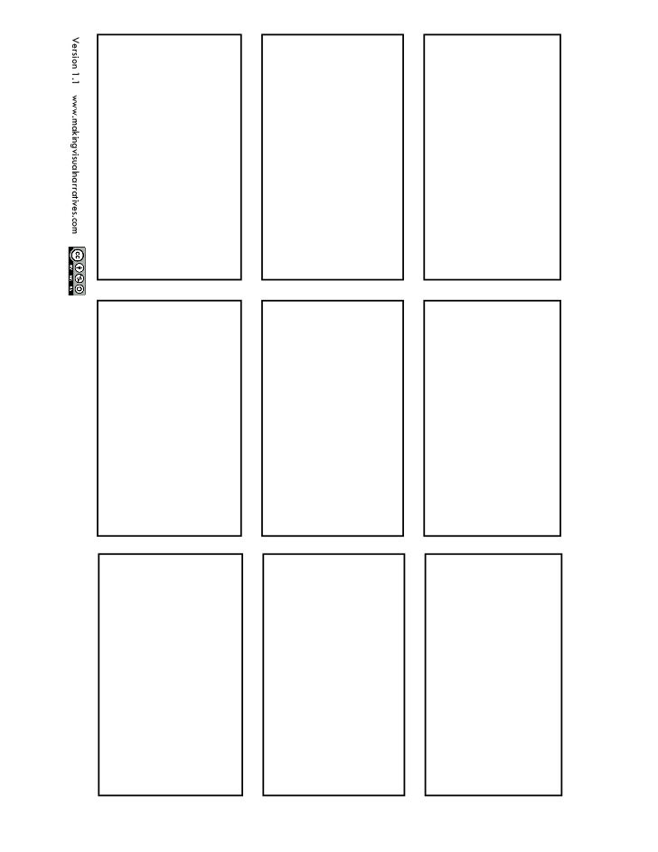9 panel comic book page for Comic strip template maker