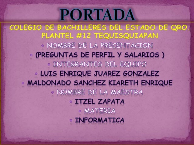  COLEGIO DE BACHILLERES DEL ESTADO DE QRO. PLANTEL #12 TEQUISQUIAPAN