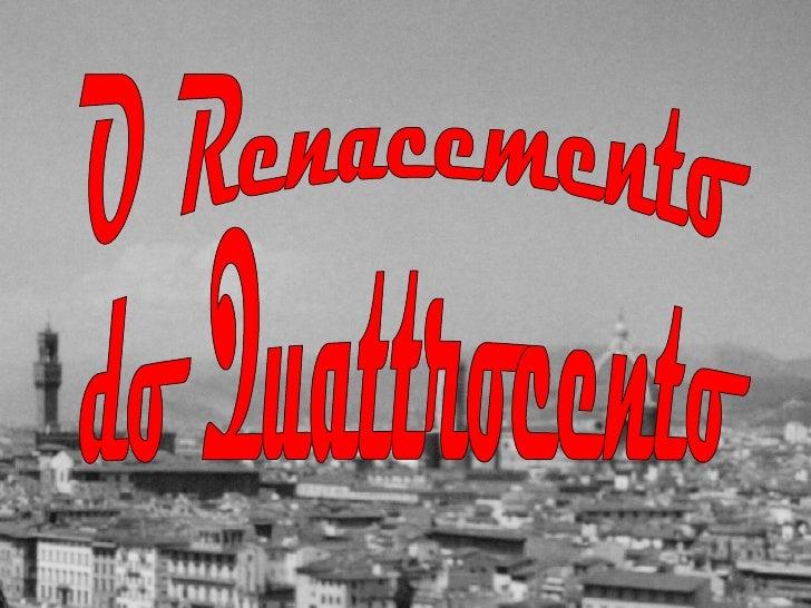 O Renacemento do Quattrocento