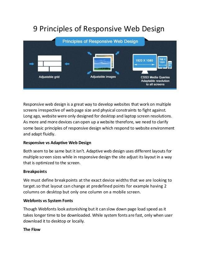 9 Principles Of Design : Principles of responsive web design