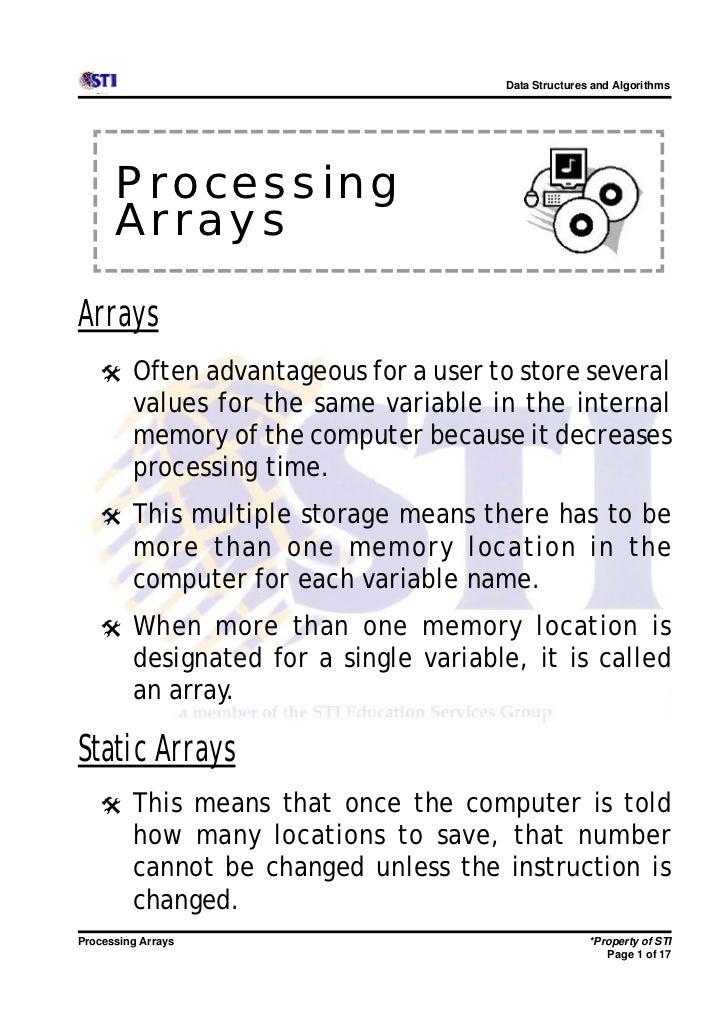 9 processing arrays