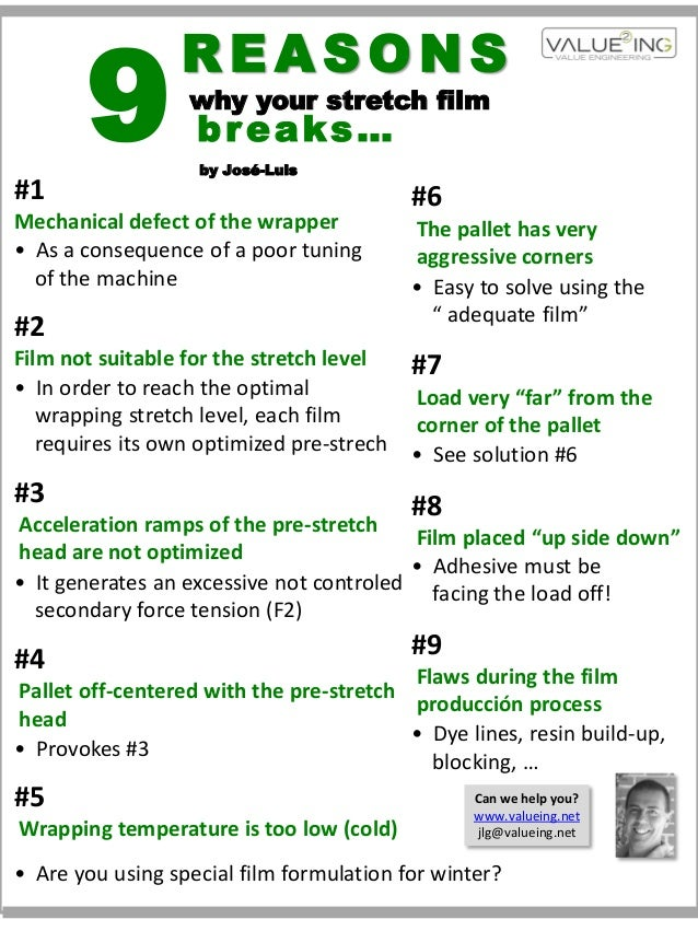 9                 REASONS                  why your stretch film                   breaks…                   by José-Luis#...