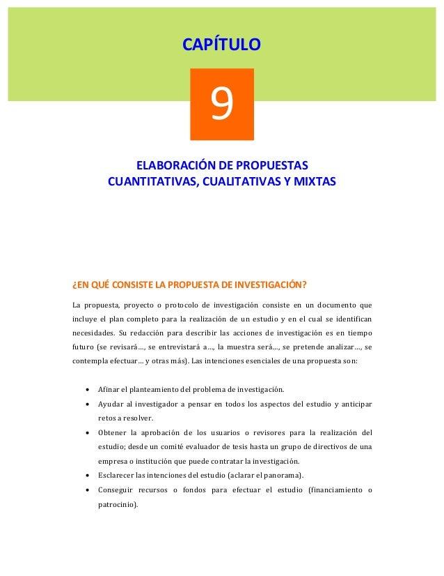CAPÍTULO                                              9                ELABORACIÓNDEPROPUESTAS            CUANT...