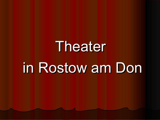 Theater in Rostow am Don