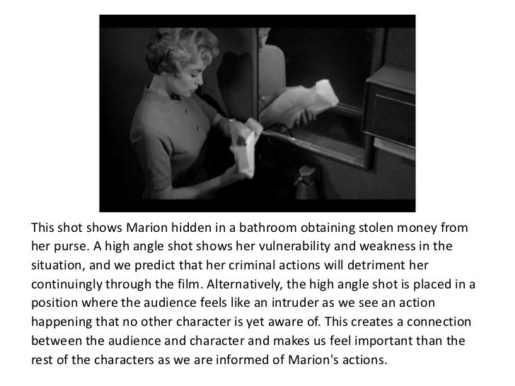 psycho parlour scene analysis Psycho analysis  the scene opens with a low angle mid-shot of norman bates  and is also a low angleshot which makes him seem powerful.