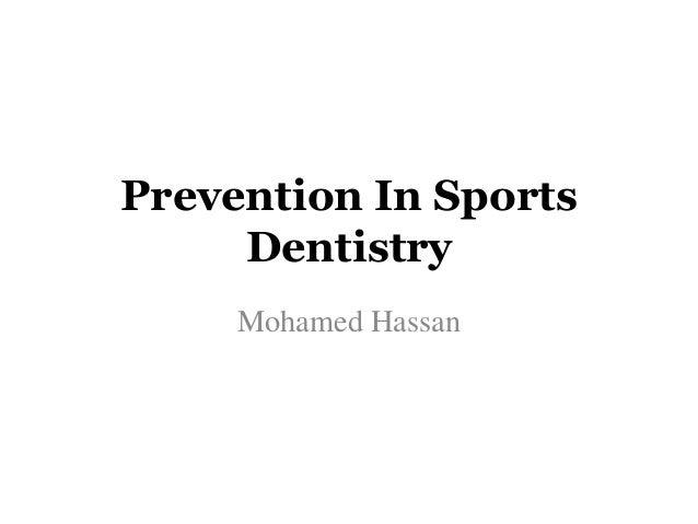 sport dentistry