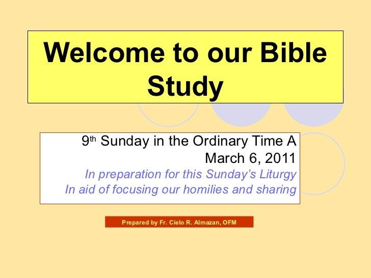 9th  Sunday  A