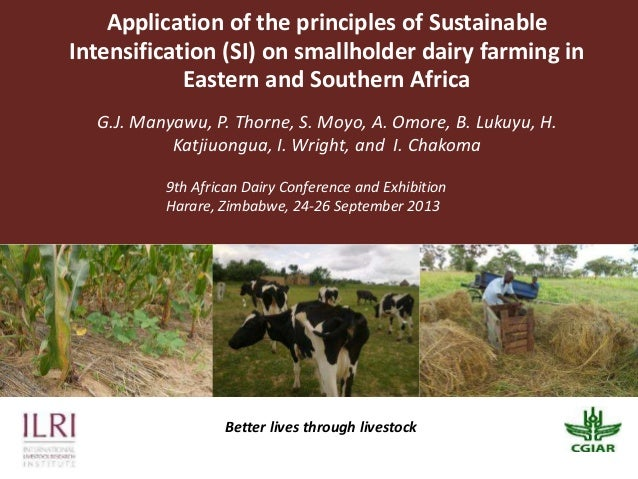 Application of the principles of Sustainable Intensification (SI) on smallholder dairy farming in Eastern and Southern Africa