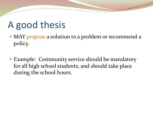 How to Write a Thesis Statement (High School Students) forecast