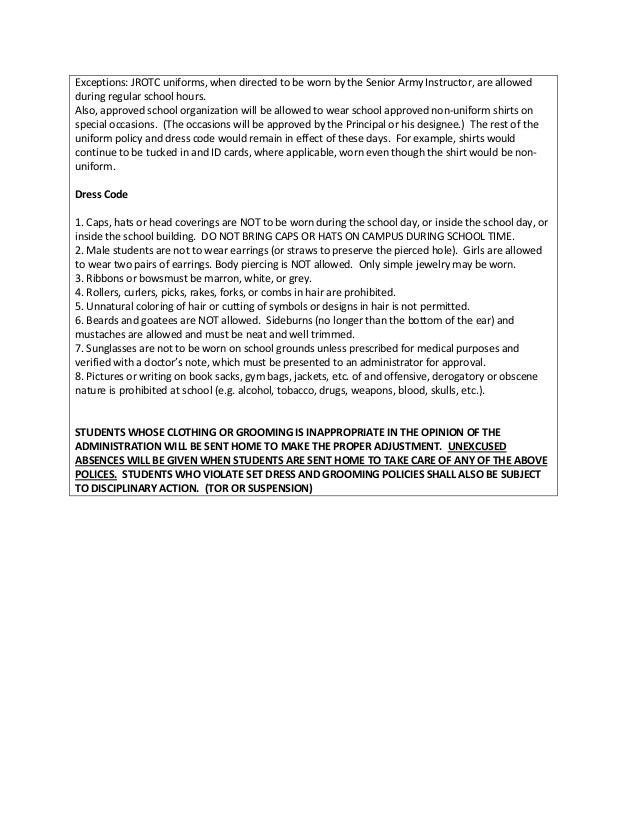 Persuasive Essay Examples For School Uniforms