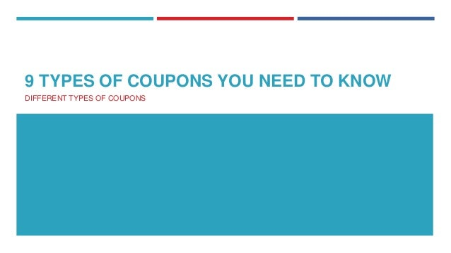 Different types coupons