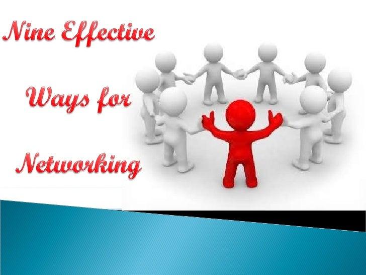 9 ways of networking final by Rashi Gupta