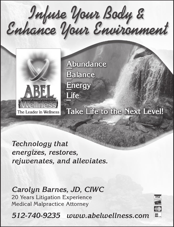 Technology that energizes, restores, rejuvenates, and alleviates.   Carolyn Barnes, JD, CIWC 20 Years Litigation Experienc...