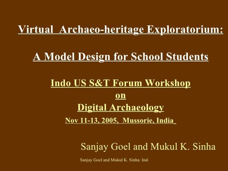 Virtual  Archaeo-heritage Exploratorium