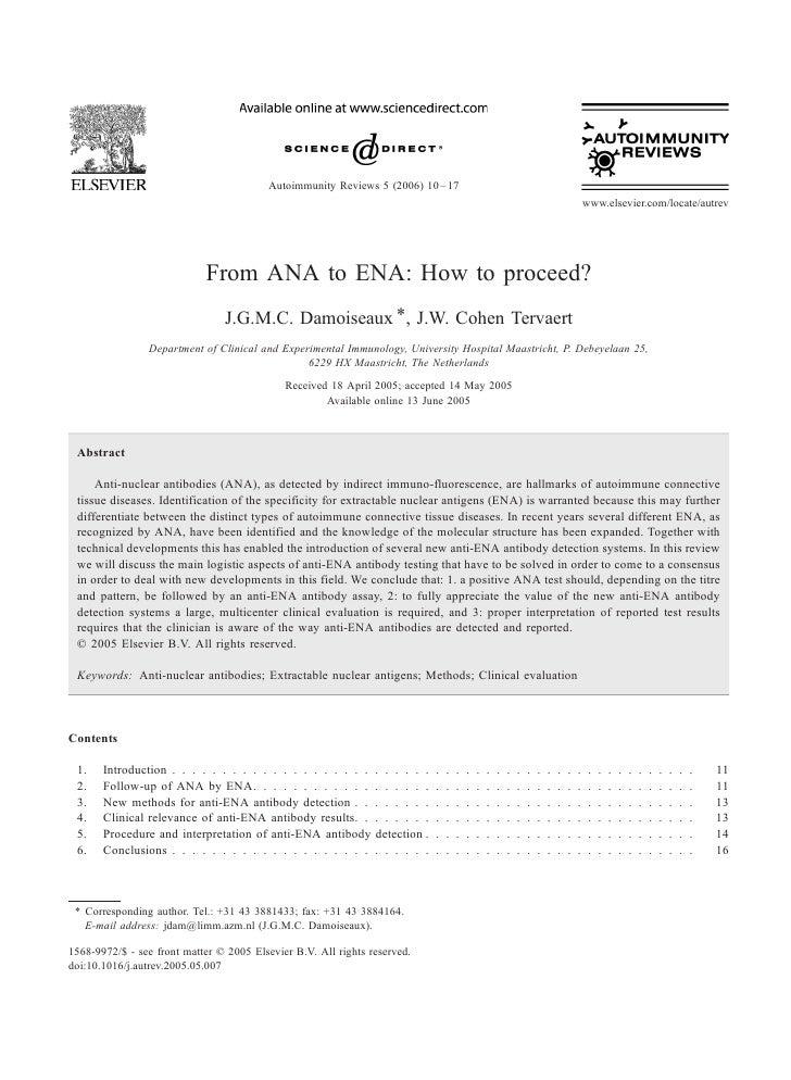 Autoimmunity Reviews 5 (2006) 10 – 17                                                                                     ...