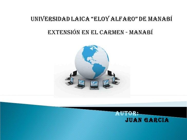 Autor: juan garcia EXTENSIÓN EN EL CARMEN - MANABÍ
