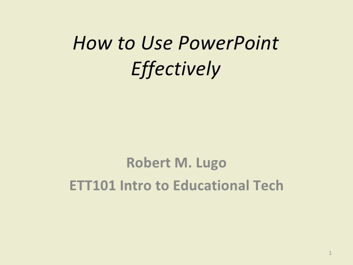 Activity 5 How To Use Power Point Effectively