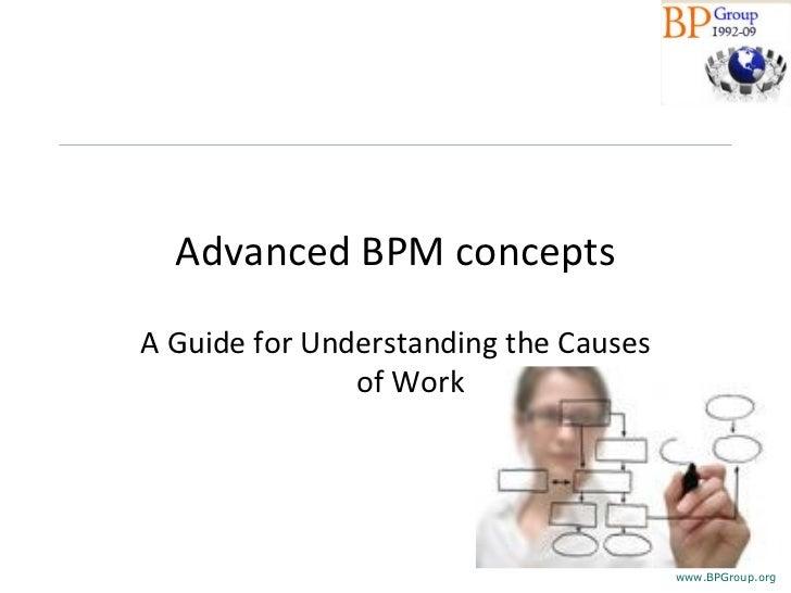 Business Process Management Advanced concepts