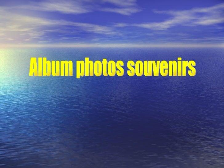 Album photos souvenirs