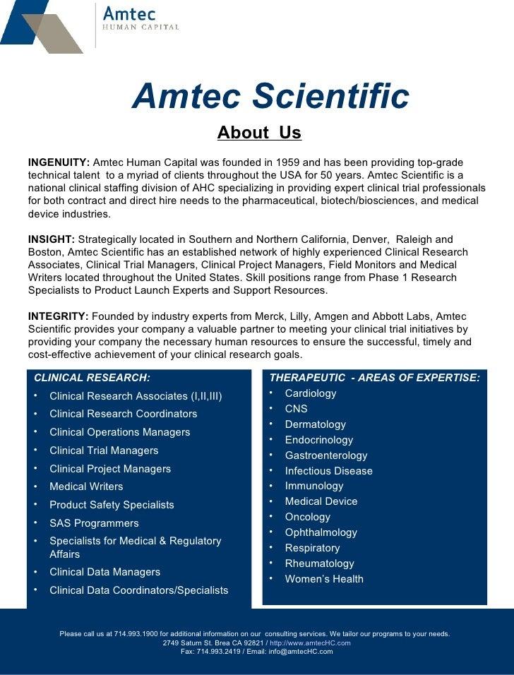 Amtec Scientific About Us