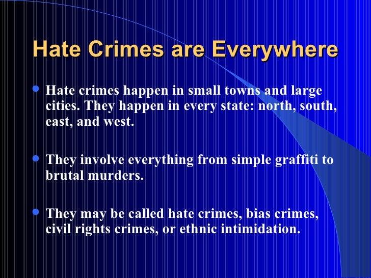 Essay On Hate Crimes