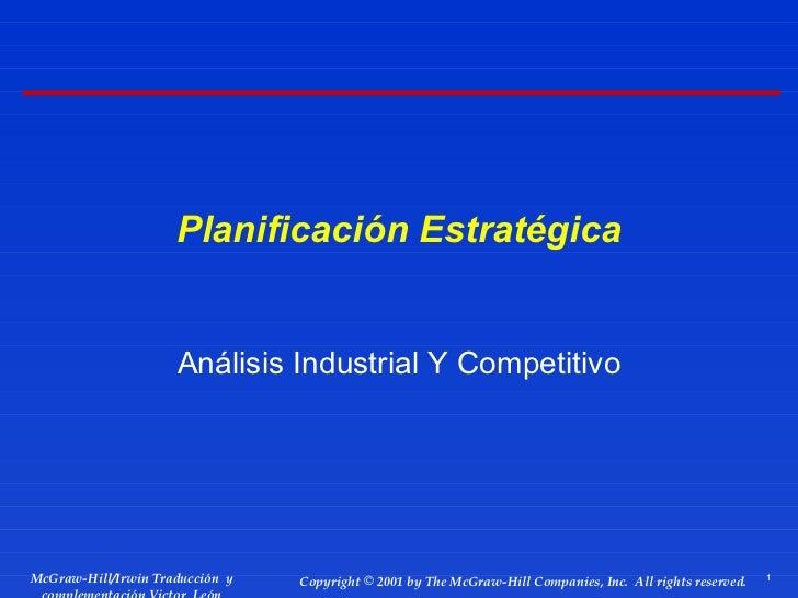 Análisis Industrial y Competitivo