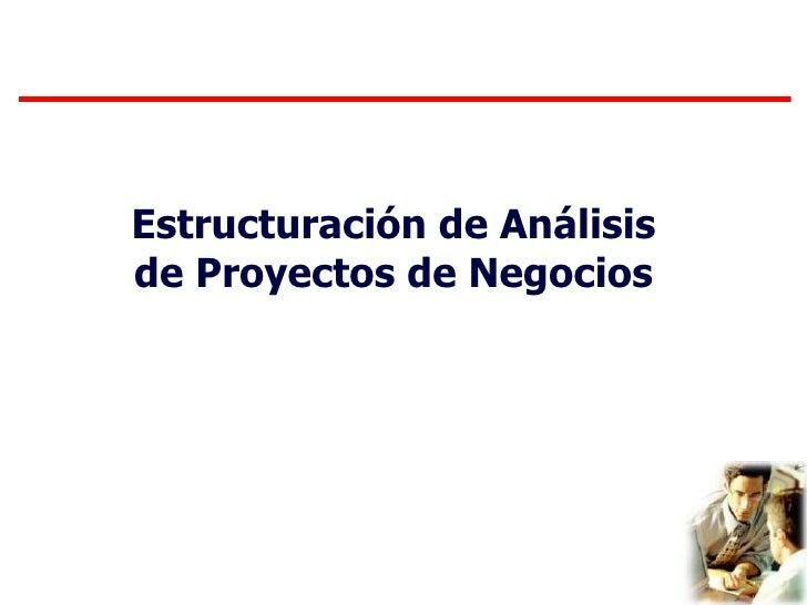 Análisis de Proyectos de Negocios