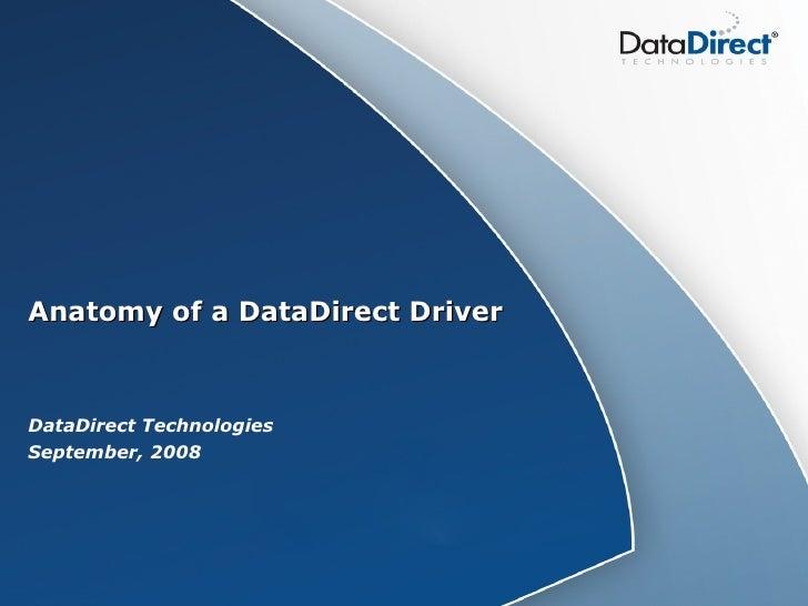 Anatomy Of A Driver Presentation   09 15 2008