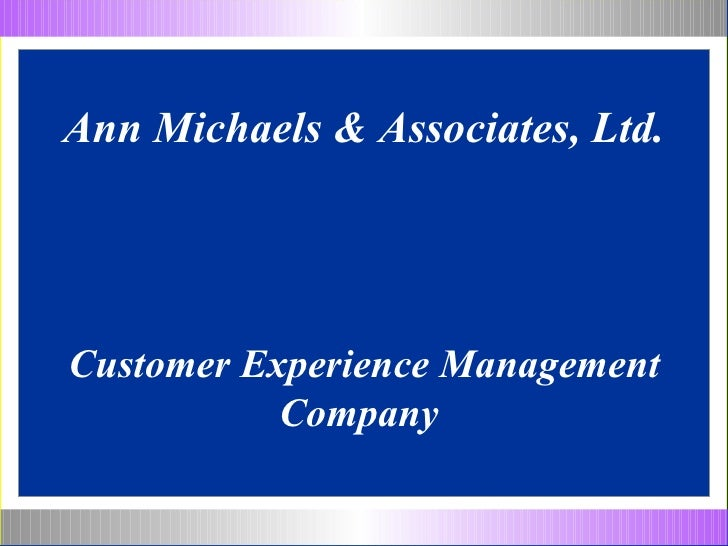 Ann Michaels & Associates - Customer Service Solutions