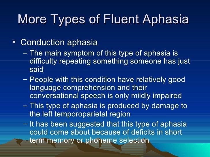 Conduction Aphasia aphasia presentation