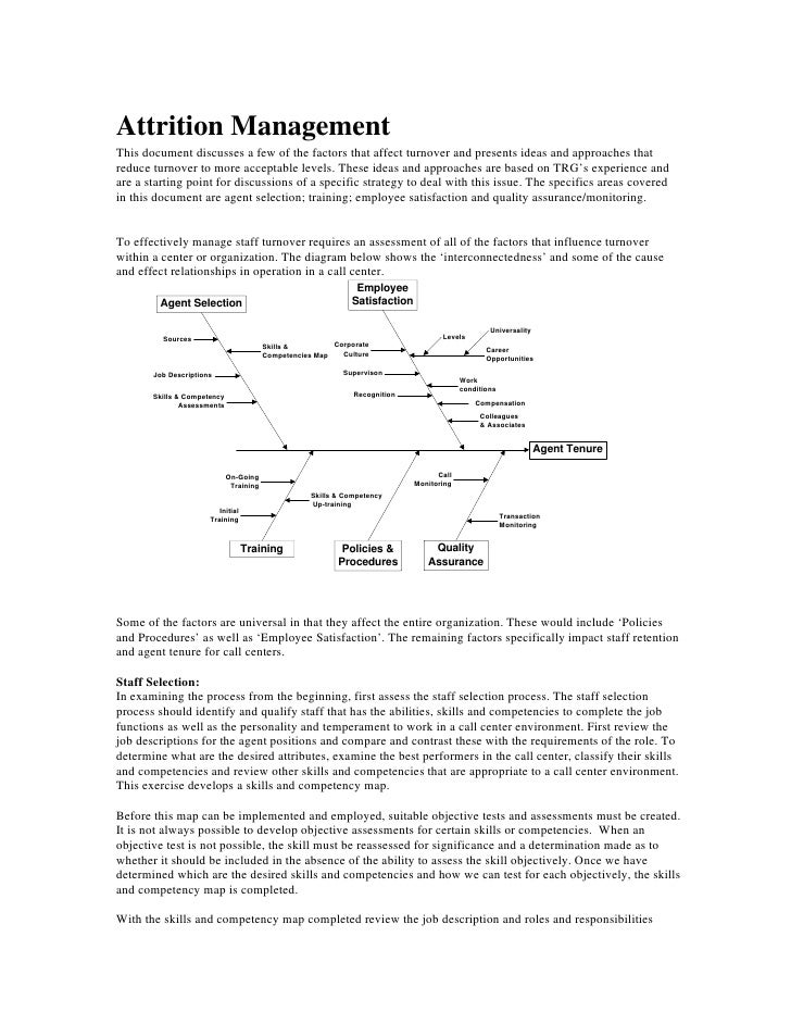 Attrition Management This document discusses a few of the factors that affect turnover and presents ideas and approaches t...