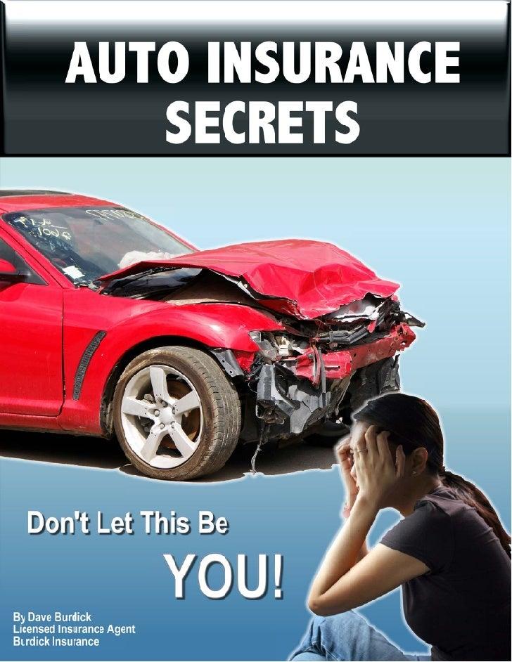 Auto Insurance Secrets