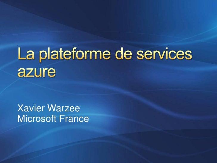 Xavier Warzee Microsoft France