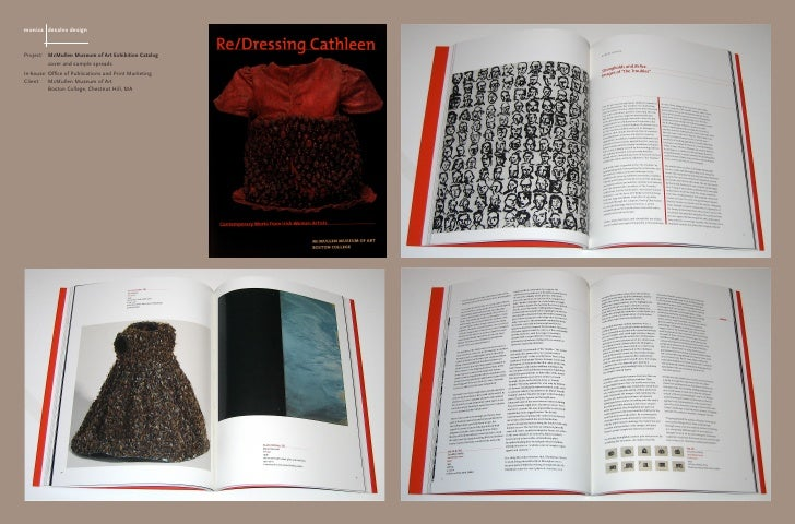 monica desalvo design   Project: McMullen Museum of Art Exhibition Catalog          cover and sample spreads In-house: Off...
