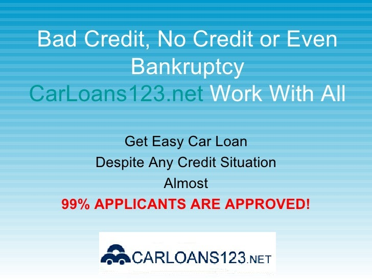 New car loan rates for poor credit